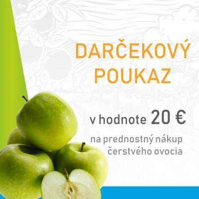 Darčekový poukaz na prednostný nákup ovocia