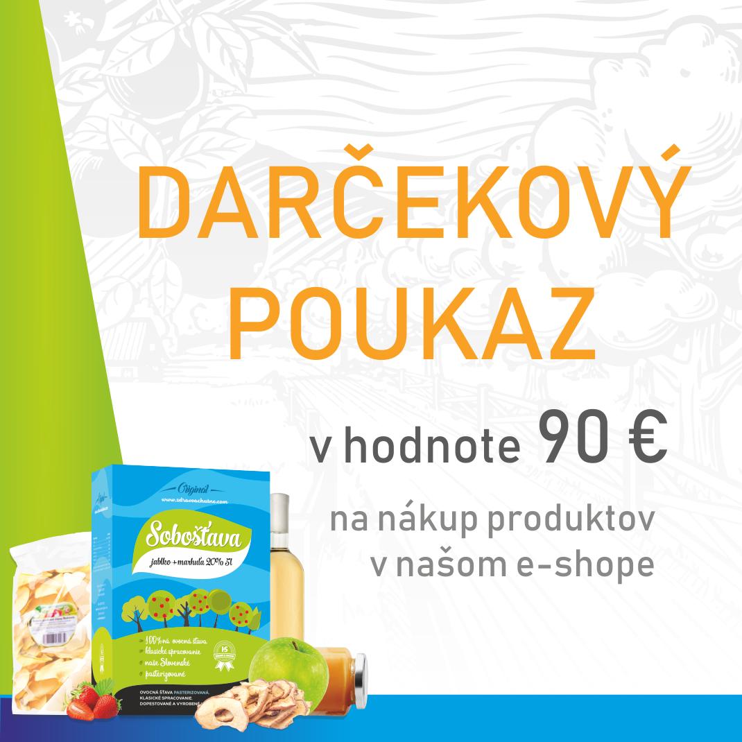 a9f4b8888 Darčekový poukaz v hodnote 90 € - Zdravoachutne.com